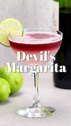 This tasty twist on the tequila classic calls for red wine, adding a dash of color and earthiness to the mix. Quick tip: Skip the salted rim as it clashes with the wine's acidity. A well-made Margarita is a pure joy to drink, but sometimes you crave a m Liquor Drinks, Cocktail Drinks, Beverages, Margarita Cocktail, Tequilla Cocktails, Fancy Drinks, Cocktails With Wine, Drinks Made With Tequila, Alcoholic Drink Recipes