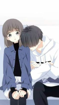 anime too,because when i woke up i saw my crush that we slept peacefully and oue position is really shock because my head is in his shoulder and his head is in my ear and his legs is in my top of my legs and it really look sweet. Anime Girl Drawings, Anime Couples Drawings, Anime Art Girl, Cute Drawings, Anime Cupples, Chica Anime Manga, Kawaii Anime, Romantic Anime Couples, Anime Couples Manga