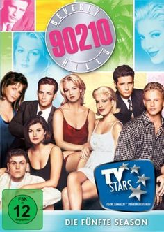 Luke Perry, Jason Priestley, Jennie Garth, Tori Spelling, Brian Austin Green, Tiffani Thiessen, Ian Ziering, and Gabrielle Carteris in Beverly Hills 90210 (1990)