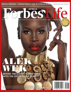 Top model turned activist and business woman Alek Wek covers FORBES Life Africa, oriented on lifestyle in general.