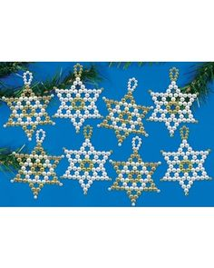 Pearl Stars Ornament Beaded Craft Kit Kit from Mary Maxim | BHG.com Shop