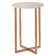 Threshold™ Copper Accent Table with Marble Top