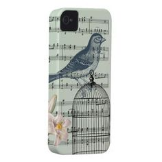 Beautiful Vintage Song Bird iphone4 case