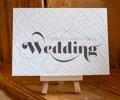 Letterpress greeting card with foiling