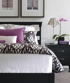 grey and purple bedroom | Beautiful Purple and Gray bedroom. Not precious at all. ... | Dream...