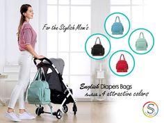 Sunveno Diaper Bag, Trendy Diaper Bags, Convertible Diaper Bag, Baby Items, Messenger Bag, English, Colours, Mom, English Language