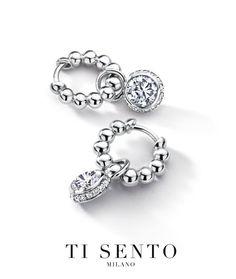 Ti Sento earrings Jewelry Ads, Cute Jewelry, Silver Jewelry, Women Jewelry, Jewellery, Bling Bling, Fashion Earrings, Diamond Earrings, Jewels