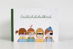 Kleines Buch für Schulkinder, Geschenk zum Schulanfang / cute little booklet as enrollment gift made by  ava&yves via DaWanda.com
