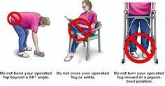 22 Best Hip Precautions Images Hip Precautions