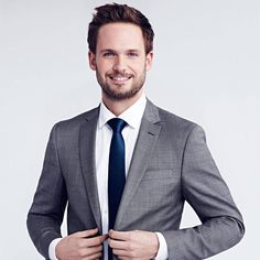 Adams The actor gets candid about his engagement, career and dapper fashion sense.The actor gets candid about his engagement, career and dapper fashion sense. Business Portrait, Corporate Portrait, Corporate Headshots, Mens Fashion Blog, Fashion Outfits, Fashion Ideas, Patrick J Adams, Headshot Poses, Suits Tv Shows