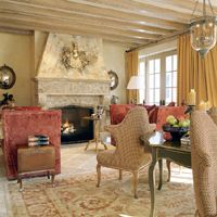grand fireplaces..