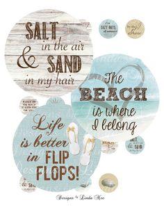 Seaside  FLIP FLOP Beach Girl  Life is better by DesignsbyLindaNee