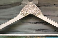 Hanger,  Wedding Hanger, Antique Wedding Hanger, Bride Hanger, Wedding Dress Hanger, Personalized hanger, Bridesmaids gifts, Shabby Chic