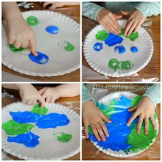 No Mess Painting in a Bag Earth Craft |put dabs of paint on paper plates, seal in a plastic bag, rub paint around. Kids Crafts, Space Crafts, Toddler Crafts, Toddler Activities, Lesson Plans For Toddlers, Preschool Lesson Plans, Preschool Activities, Earth Craft, Earth Day Crafts