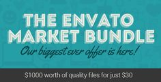 The Envato Market Bundle is on for 1 Week! After effects templates, photographs and more just for $30