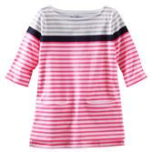 A perfect match for TLC leggings, this tunic features super-secret pockets and engineered stripes for a polished look.<br>