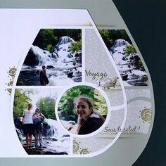 Page de Scrap - Balade en cascade 1