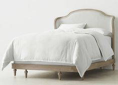Juliet Upholstered Bed With Low Footboard – Aged Driftwood – farmhouse decor flowers Country Headboard, Country Bedding, Wood Bed Frame Queen, Wood And Upholstered Bed, Bedroom Furniture, Bedroom Decor, Antique Furniture, Master Bedroom, French Bed