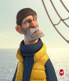 [image] Title: The Skipper Name: Matt Thorup Country: United States Software: ZBrush Keyshot Photoshop Submitted: July 2015 This started as a lunch crunch, and then I had way too much fun testing out some new t… Zbrush Character, Character Poses, Character Modeling, Character Creation, Game Character, Character Concept, Character Design Animation, Character Design References, 3d Animation