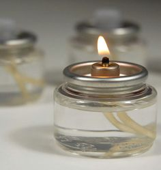 Fuel Cells $.79 each  - 8 Hour Tealight Liquid Fuel Cell Candle Lamp 10 pack  $7.99  - addition to centerpiece @Gaia Weiss