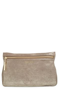 Jimmy Choo 'Zena' Metallic Suede Pouch available at #Nordstrom