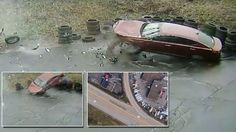 Car Launches Off Highway but Driver Miraculously Walks Away: 'He Should Say A Prayer' Miracle Stories, Say A Prayer, Product Launch, The Incredibles, Cars, Amazing, Table, Home Decor, Decoration Home