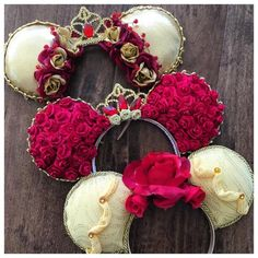 Belle inspired Minnie ears
