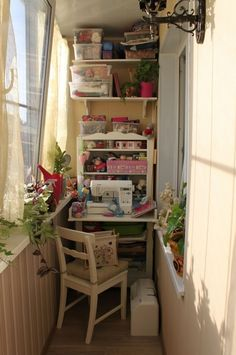 Jesus, this is so small must be manhattan... some people are so determined to have a craft room!