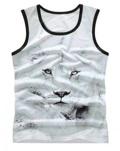 96d3ca8a2c1125 3D leopard tank tops workout animal face t shirts for guys sports wear Tank  Man