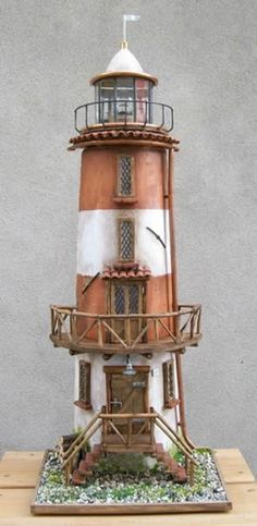 Decorated tile - lighthouse by Pventu 55