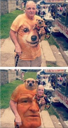 This grandpa and his pooch. | The 49 Most WTF Pictures Of People Posing With Animals