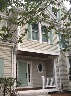 trendy exterior paint colors for house trim revere pewter Exterior Siding Colors, Exterior Paint Schemes, Best Exterior Paint, Exterior Front Doors, Exterior Paint Colors For House, Paint Colors For Home, Paint Colours, Craftsman Exterior, Exterior Design