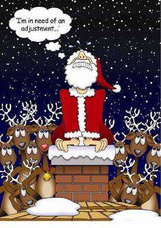 Santa knows Chiropractic Lights UP Life! Benefits Of Chiropractic Care, Chiropractic Quotes, Chiropractic Center, Chiropractic Clinic, Family Chiropractic, Massage Benefits, Chiropractic Wellness, Chiropractic Adjustment, Office Christmas
