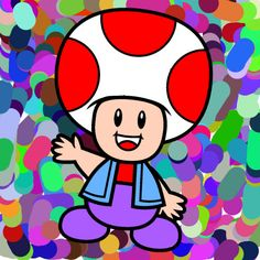 Toad - mario brothers.Coloring Page from http://www.coloringpages4u.com
