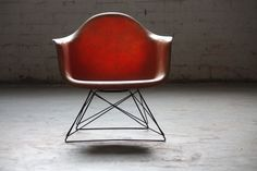 Sizzling Charles Eames LAR Zenith Rope Edge Cat's Cradle Arm Chair for Herman Miller (U.S.A., 1950s)