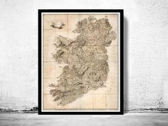 Old Map of Ireland 1811 Vintage Map