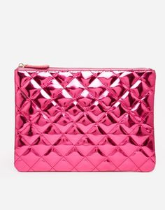 Top pick : LOVE this quilted clutch! The metallic pink is so BARBIE! It would so cool teamed with the new Moschino collection : http://asos.to/1udxY3M