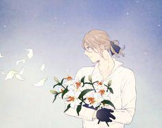 """I dedicate this flower to my precious. Hetalia France, Bad Touch Trio, Hetalia Characters, Hetalia Axis Powers, Another Anime, Cute Stories, Sheep, Fan Art, Manga"