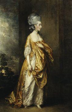 ▴ Artistic Accessories ▴ clothes, jewelry, hats in art - Thomas Gainsborough | Mrs. Grace Dalrymple Elliott, 1778