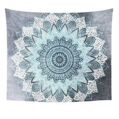 Mandala Tapestry Wall Hanging Witchcraft Hippie Beach Throw Rug Moon Travel Boho Bohemian Home Art Psychedelic Tapestries Decor Selling Well All Over The World Home & Garden