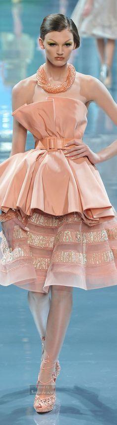 Christian Dior Couture F-08: blush ensemble.