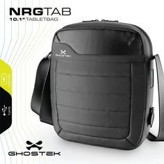 Ghostek NRGTAB Tablet Messenger Bag + Charging Tablet, Phone, eReader