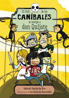 El club de los Caníbales se comen a Don Quijote. Ilustraciones