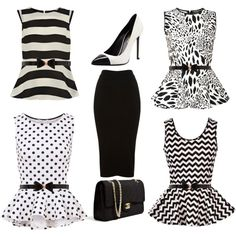 """Black and White"" by mdcampbell on Polyvore"