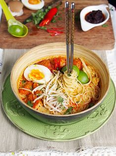 Singapore Chicken Laksa. A must eat every time I go to Singapore. It's soooo delicious
