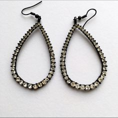 Black bling earrings. Great earrings for any event! No studs missing Jewelry Earrings