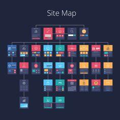 Concept of website flowchart sitemap. Website Design Inspiration, Web Design Blog, Website Design Layout, Web Layout, Ux Design, Page Design, Layout Design, Wireframe Design, Graphic Design Trends