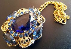 Juliana Pendant D&E Confirmed Sapphire Blue by BrightgemsTreasures, $64.50