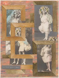 """Hannah Hoch - The Dream of His Life, 1925.  In this photomontage collage, Hoch shows us that getting married, being wed, owning a """"lil wifey"""" is just as much a man's dream as a woman's. Strait Men pretend to hate marriage, but they women to serve them."""