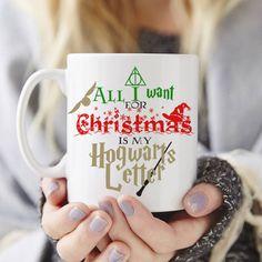 Christmas Hogwarts Letter mug, Custom gift, coffee mug, tea mug,... ($24) ❤ liked on Polyvore featuring home, kitchen & dining, drinkware, xmas mugs, christmas mugs, tea mug, coffee tea mugs and quote mugs